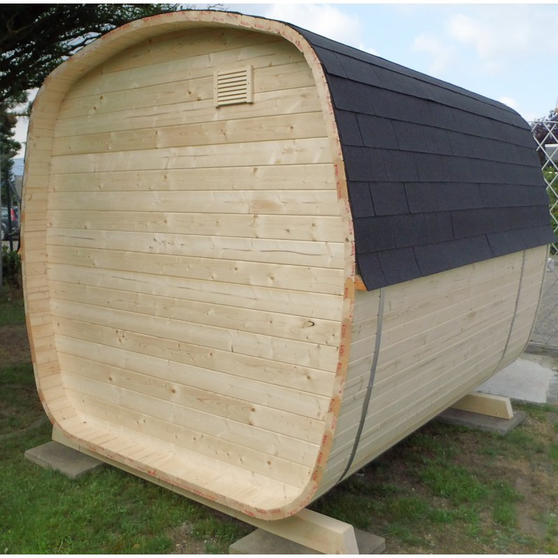 fasssauna saunafass modell megasauna exklusiv. Black Bedroom Furniture Sets. Home Design Ideas