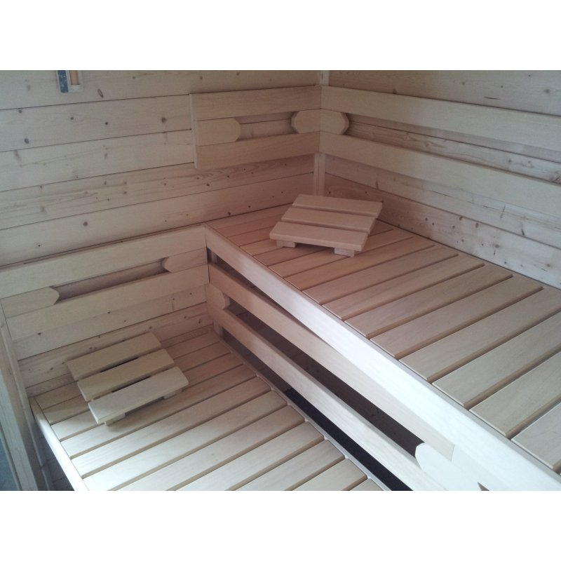 premium vario massivholz sauna m02 2 40 x 2 00m. Black Bedroom Furniture Sets. Home Design Ideas