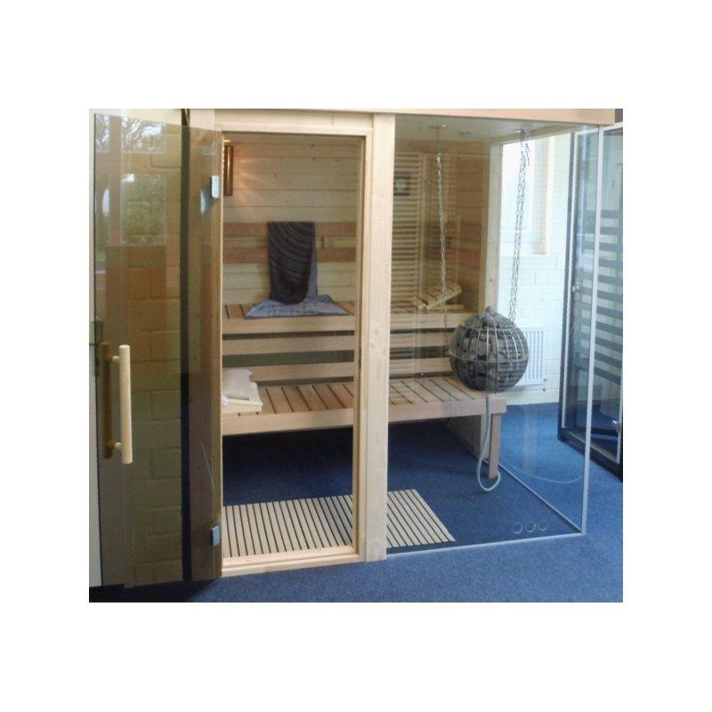 premium vario massivholz sauna m03 2 00 x 1 93m. Black Bedroom Furniture Sets. Home Design Ideas