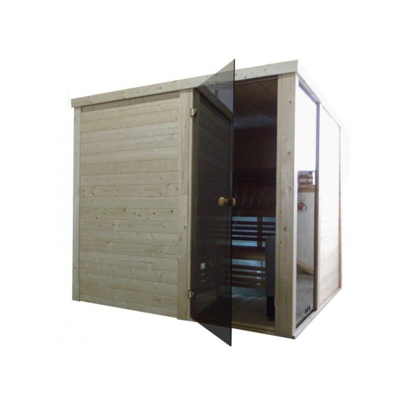 premium vario massivholz sauna m04 2 27 x 2 27m. Black Bedroom Furniture Sets. Home Design Ideas