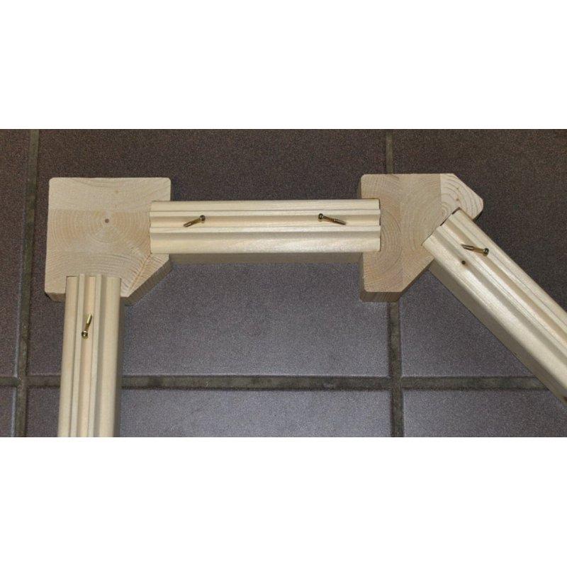 sauna blockbohlen nordische fichte 45x121mm 6 90. Black Bedroom Furniture Sets. Home Design Ideas
