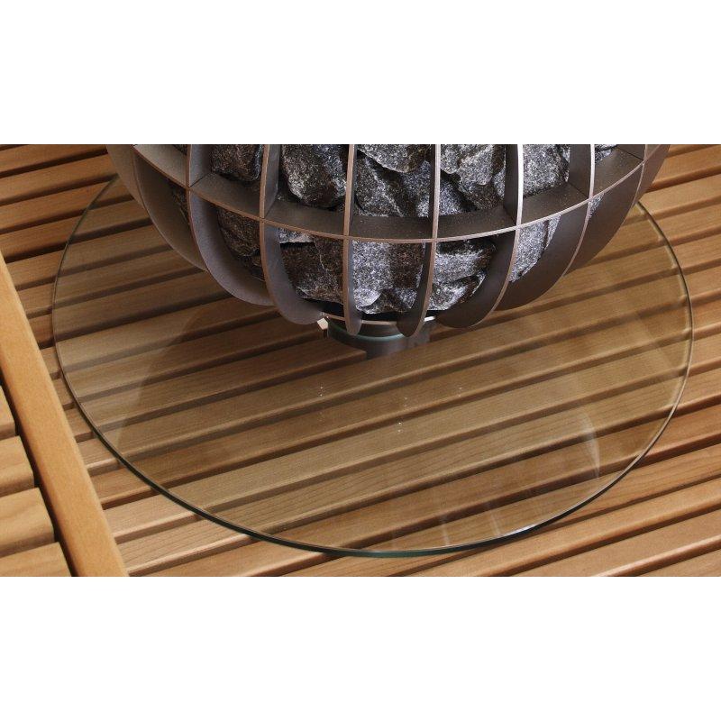 schutzunterlage aus glas f r harvia globe 102 00. Black Bedroom Furniture Sets. Home Design Ideas