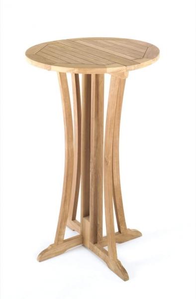 tl 8121 bistrotisch stehtisch bartisch holz teak tisch bar tresen rund 75 cm neu ebay. Black Bedroom Furniture Sets. Home Design Ideas