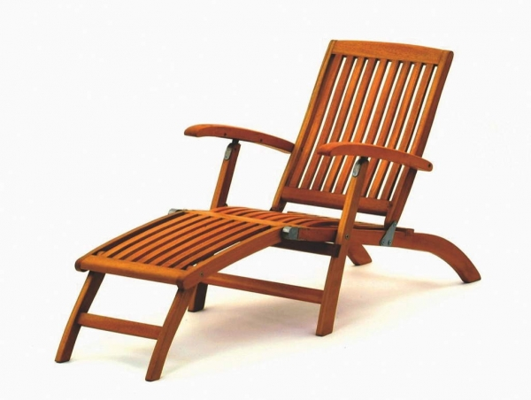 gartenm bel deckchair gartenliege liegestuhl liege holz eukalyptus holz lasiert ebay. Black Bedroom Furniture Sets. Home Design Ideas
