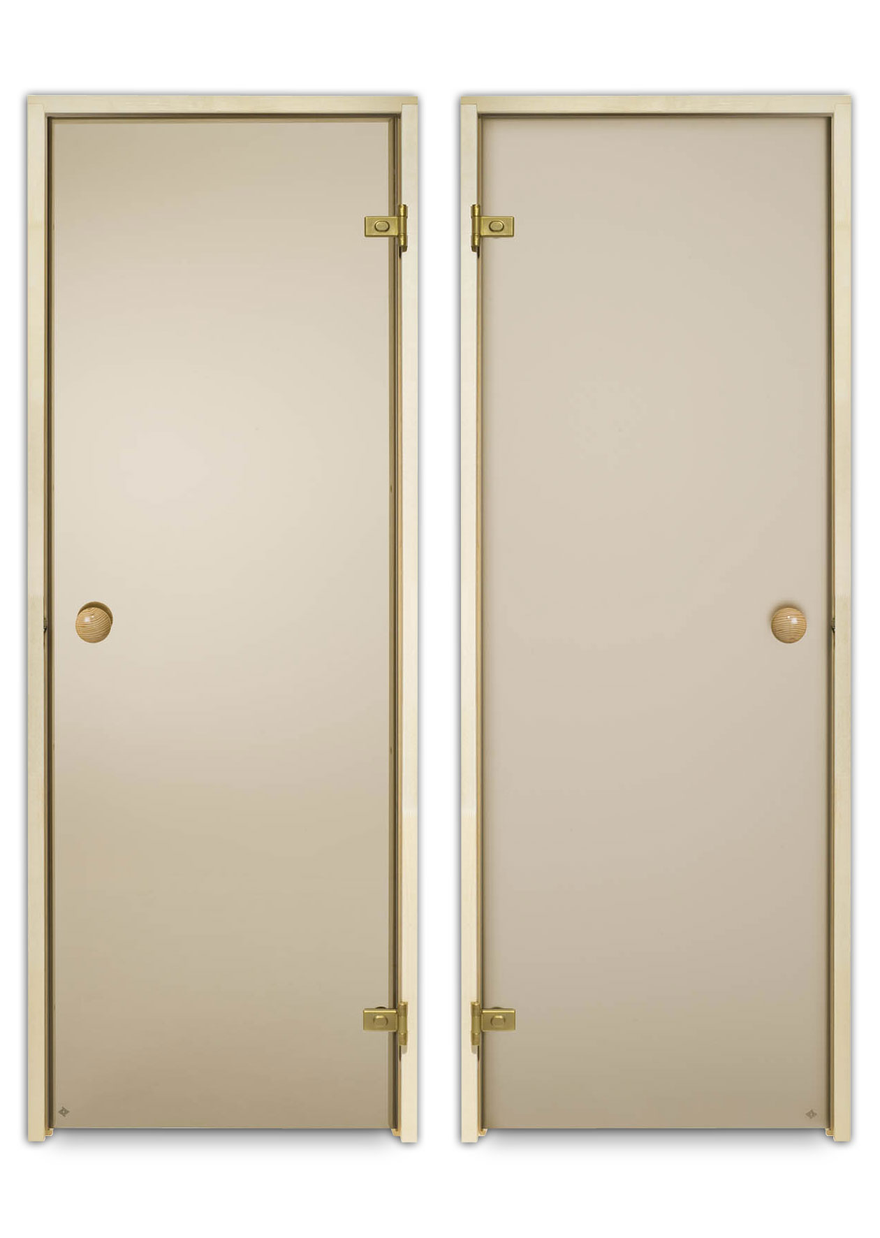 Grau Glasfarbe Espe Saunat/ür ECO 70x190 Rahmen