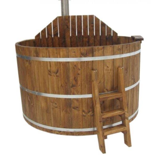 hot tub badezuber badetonne badefass aus l rche. Black Bedroom Furniture Sets. Home Design Ideas